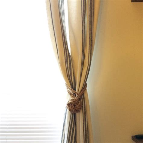 vorhang seil vorhang raffhalter seil knoten