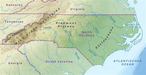 map usa carolina map usa carolina