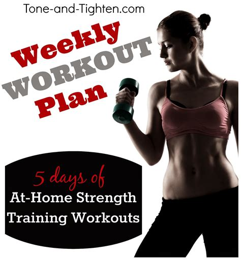 weekly workout plan the best workouts 30 minutes