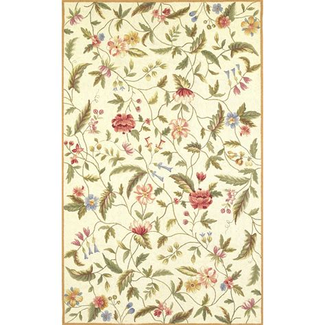 Kas Rugs Colonial Ivory Floral Area Rug Reviews Wayfair Floral Rugs