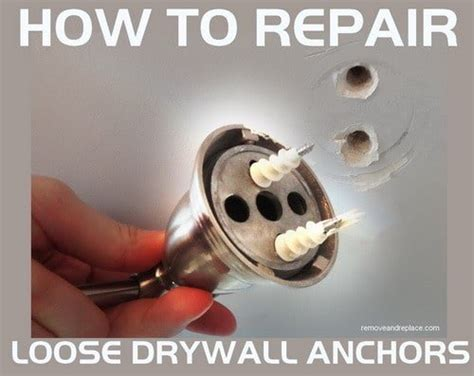 How To Fix A Small In An Air Mattress by How Do I Repair A Wall Anchor That Has Fallen