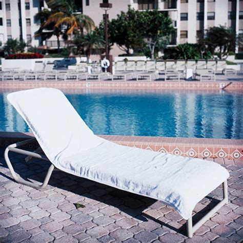 chaise lounge towel covers resort chaise cover white towel