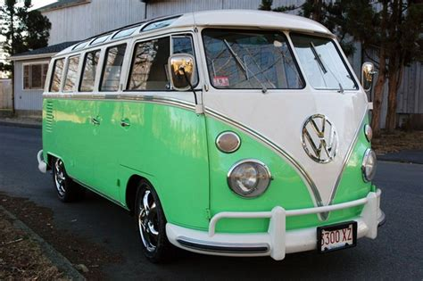 volkswagen minibus 1964 look at this beautiful sea foam green vw bus just look at