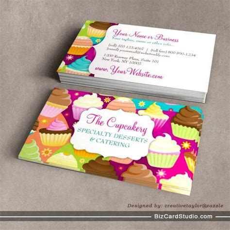 cupcake business card template colorful cupcakes business card templates