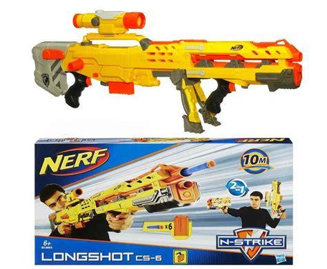 Nerf Longshot Cs 6 Yellow nerf n strike elite longshot cs 6 yellow gun play