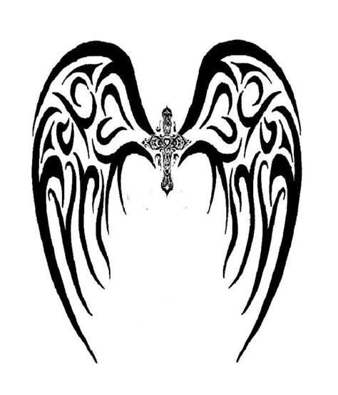 tribal wings back tattoo 18 beautiful tribal wings tattoos only tribal