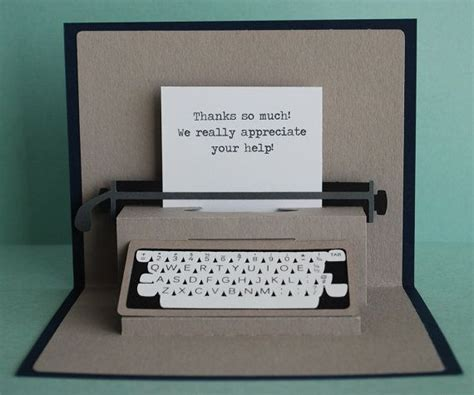printable thank you popup card typewriter pop up card l wren scott messages and design