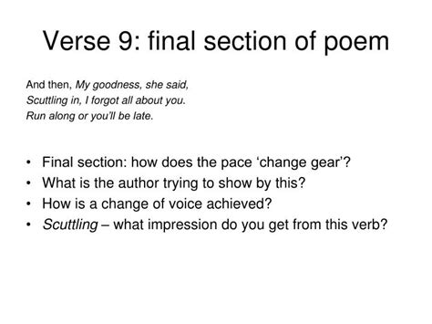 section of a sonnet ppt half past two by u a fanthorpe for igcse english