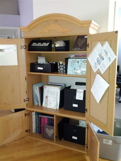 scrapbook armoire 38 best ideas about scrapbook storage on pinterest craft tables scrapbooking and