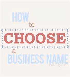 how to choose a how to choose a business name imperfect concepts