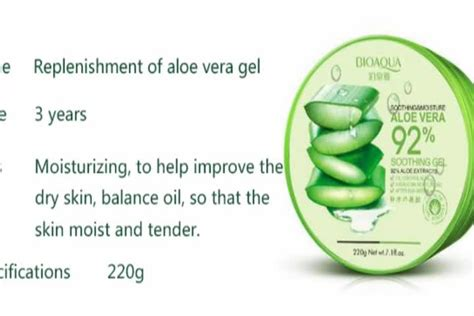 Bioaqua Aloe Vera Essence Nourish Mask aloe vera essence gel moisturizing mask buy bioaqua gel mask