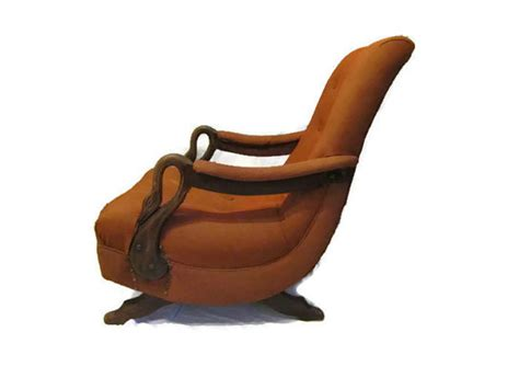Gooseneck Rocking Chair by Vintage Chicago Gooseneck Upholstered Rocking Chair Mid