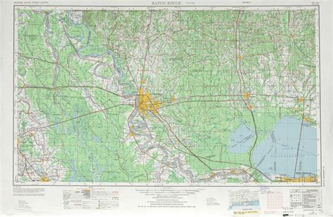 baton map baton topographic maps la usgs topo 30090a1 at 1 250 000 scale