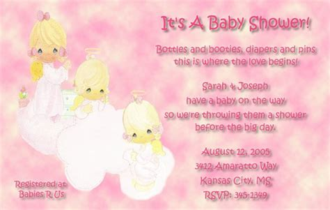 Precious Moments Baby Shower Invitations by Precious Moments Baby Shower Invitations Three