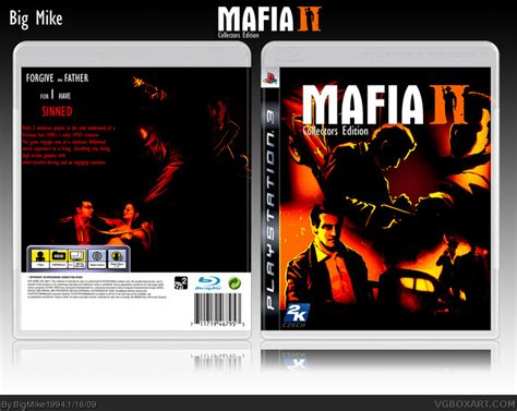 Mafia Ii Ps3 Cd mafia ii collectors edition playstation 3 box cover by bigmike1994