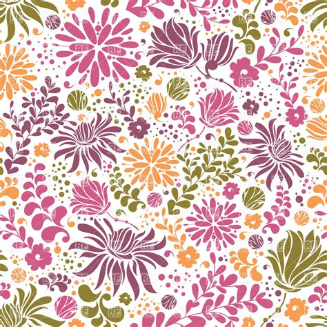 pattern royalty free bright floral patterns