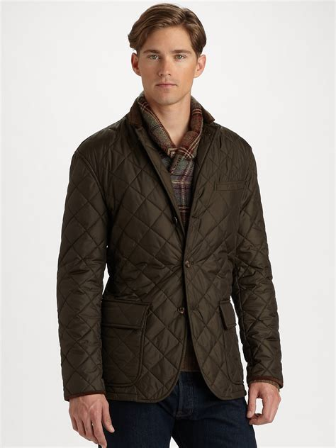 Polo Ralph Quilted by Polo Ralph Quilted Sport Coat In Green For Lyst