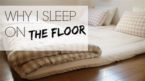 why i sleep on the floor japanese futons