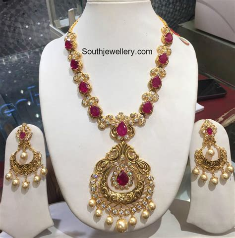 white stones necklace latest jewelry designs   Jewellery Designs