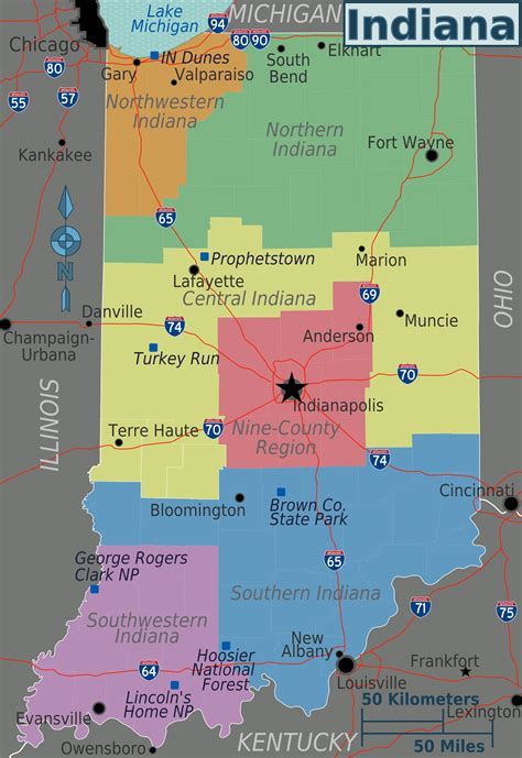 regions of usa map map of indiana overview map regions worldofmaps net