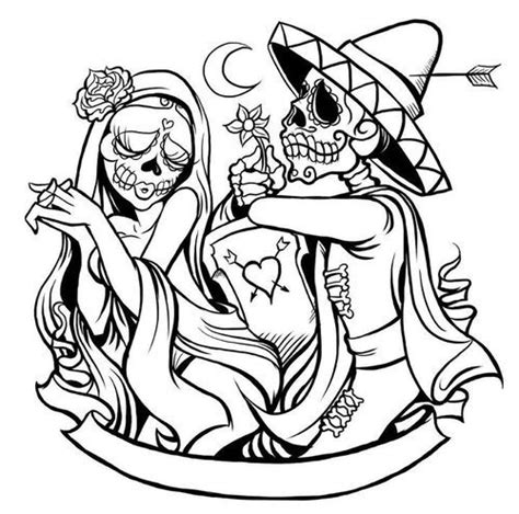 day of the dead calavera coloring page calaveras skull day of the dead coloring pinterest
