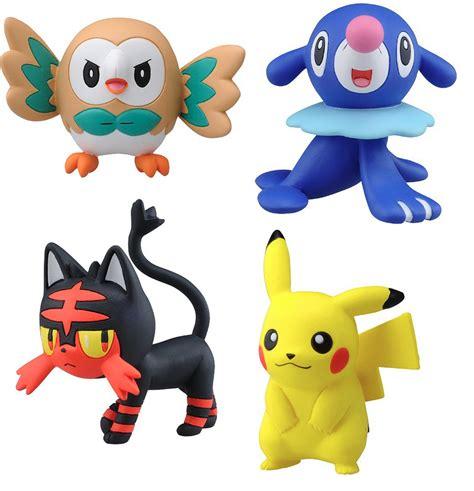 set of 4 takaratomy sun moon figures emc pikachu