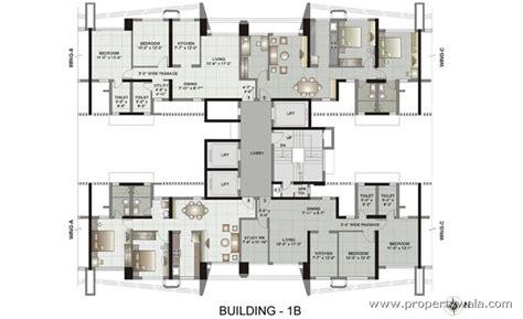 layout plan of new ashok nagar kalpataru gardens ii kandivali east mumbai apartment