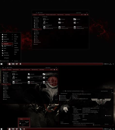 theme editor windows 10 the red theme for windows 10 rs2 creator s update 1703 15063