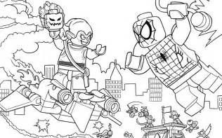 lego marvel coloring pages spider web warriors ultimate bridge battle coloring