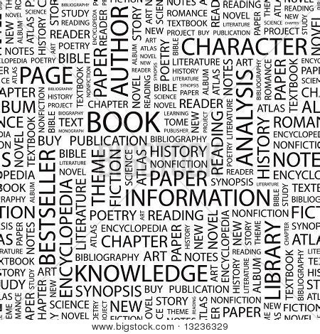image pattern literary terms book seamless vector pattern with illustration with