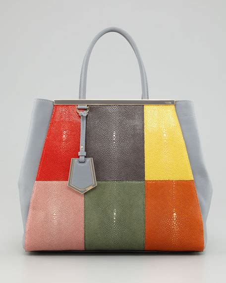 Fendi Patchwork Tote by Fendi 2jours Stingray Patchwork Tote Bag