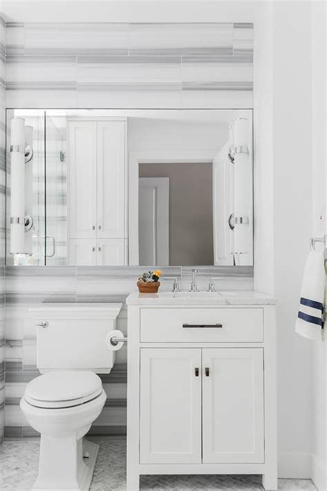 white  gray marble striped tiles design ideas