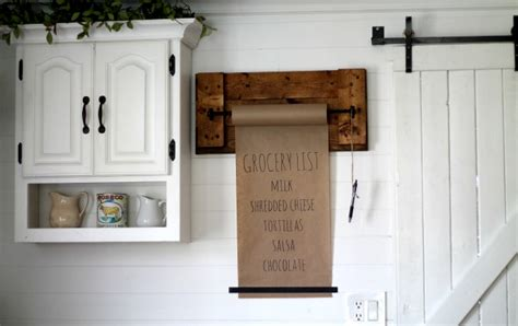 Craft Paper Dispenser - grocery list diy paper wall dispenser knick of time