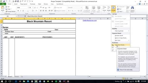 Unlock Excel Spreadsheet by How To Unlock Excel Spreadsheet Forgot Password Spreadsheets