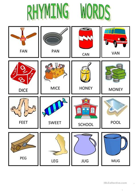 words that rhyme with 33 free esl rhyming worksheets