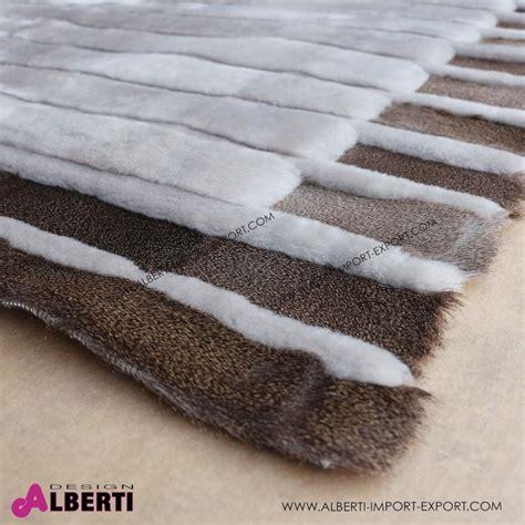tappeto di tappeto di pelle di pecora rasatacon disegno 280x170 cm