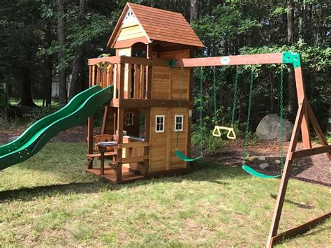 swing sets with installation wonderful big backyard playsets ideas the wooden houses