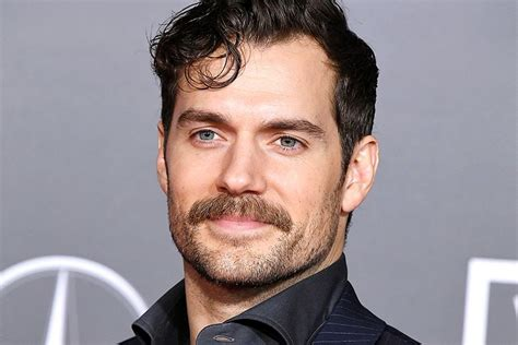 actor with handlebar mustache superman star henry cavill just found out he died two