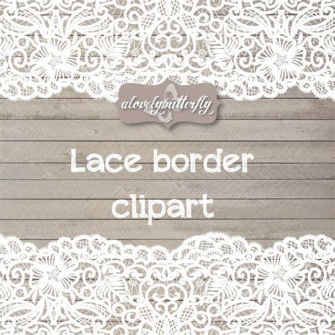Rustic Wedding Border by Wedding Clipart Lace Border Rustic Clipart Shabby Chic