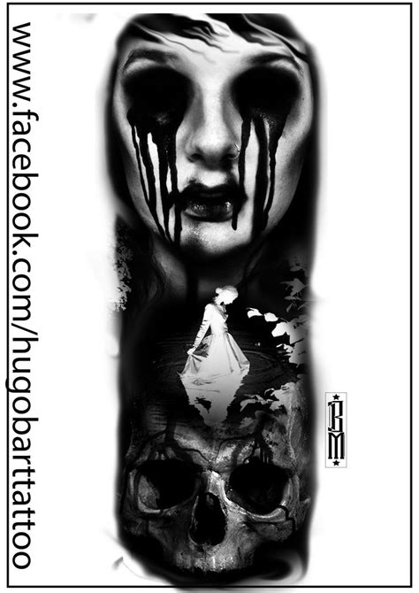 2 face tattoo design skull scarry digital tatoo design blood