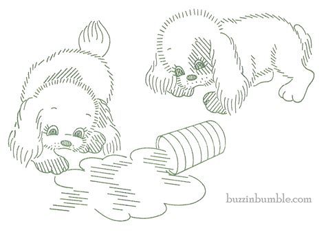 vintage embroidery pattern free buzzinbumble free puppy patterns 2 vintage 1940 s