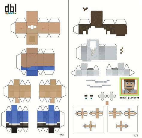 Minecraft Build Templates by Papercraft Dig Build Live Player Unofficial Template