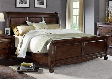 amazon king bed rustic sleigh beds on amazon andreas king bed rustic