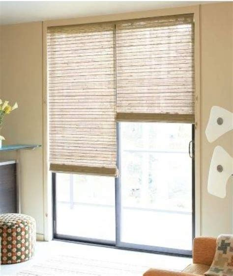 Patio Door Curtains And Blinds Sliding Door Treatment On Door Window Covering