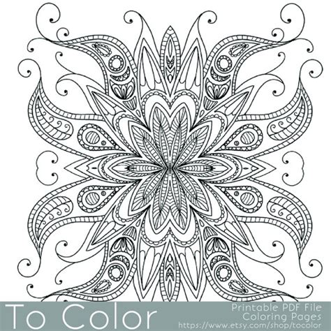 coloring book gel pens items similar to intricate printable coloring pages for
