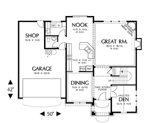 first floor plan fairford 5604 4 bedrooms and 2 baths the house designers