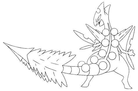 pokemon coloring pages sceptile mega evolution pokemon coloring pages