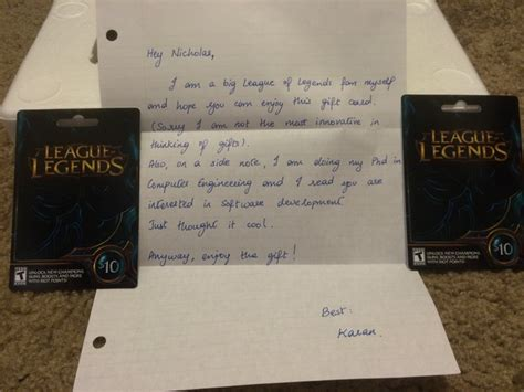 League Of Legends Gift Cards - league of legends gift cards arbitrary day 2014 redditgifts