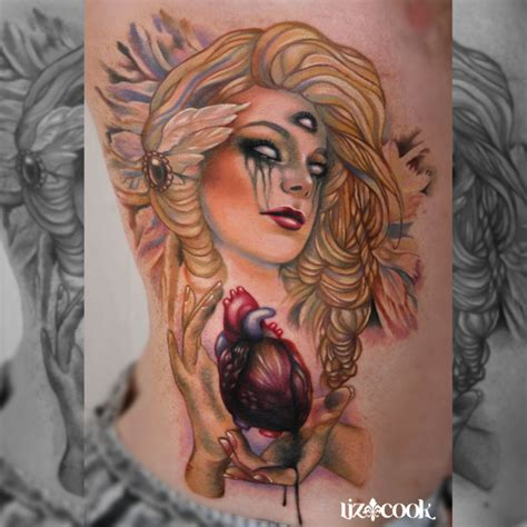 tattoo instagram art instagram liz cook tattoo dark angel heart by