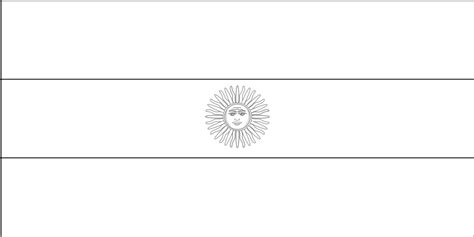 argentina flag coloring page coloring home